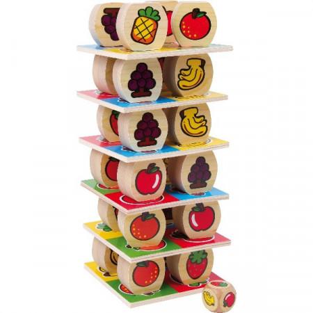Joc indemanare Turnul fructelor, Joc de echilibru, Small Foot.