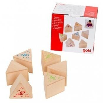 Joc memorie cu sunete Goki.Jocuri si Jucarii Montessori din lemn