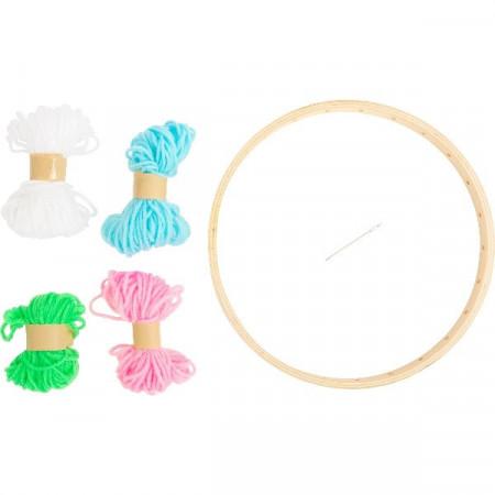 Jucarie creativa pentru copii Gherghef sau Razboi rotund de tesut, Small Foot. Jocuri si Jucarii Montessori din lemn.
