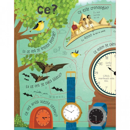 Intrebari si raspunsuri despre timp, Usborne in limba romana.
