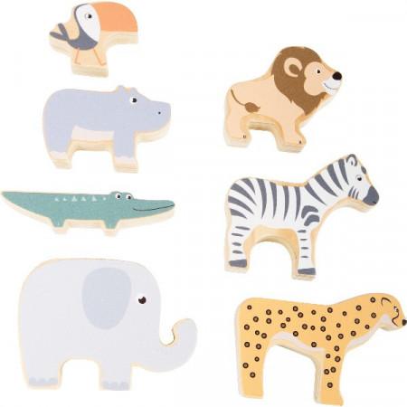 Joc de indemanare si stivuire, Turnul animalelor. Stacking Animals Safari, Small Foot.