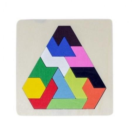 Joc educativ din lemn puzzle Tangram