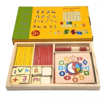 Joc lemn Matematica Distractiva, Joc Tangram. Joc betisoare matematica.