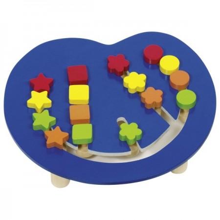 Joc pentru copii de indemanare si logica Sortare forme si culori, Goki.Jucarii si Jocuri Montessori din lemn