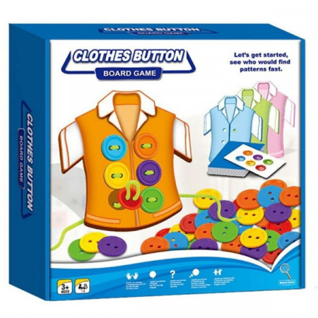 Joc snuruit nasturi Clothes Button, Joc educativ.