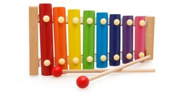 Jucarie muzicala Xilofon din lemn.
