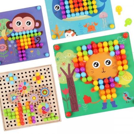 Joc Mozaic cu Roti Zimtate, Gear Toys. Joc creativ si distractiv pentru copii.