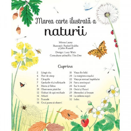 Marea carte ilustrata a naturii, Usborne in limba romana.