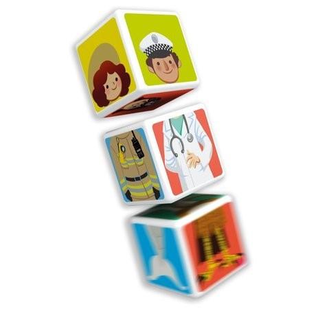 Puzzle educativ magnetic Geomag Magicube Meserii, Profesii.