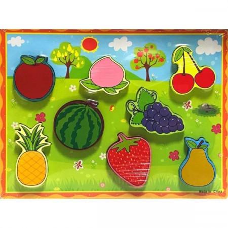 Puzzle incastru 3D Fructe. Puzzle educativ Montessori.