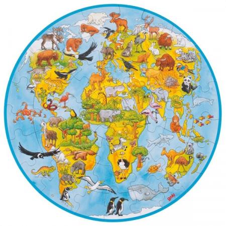puzzle copii circular lumea noastra