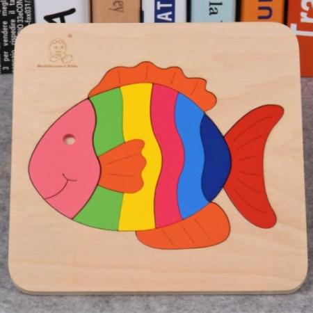 Puzzle lemn incastru JigSaw 18 cm x 18 cm