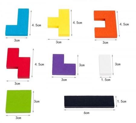 Tetris lemn, Joc constructii cu piese din lemn