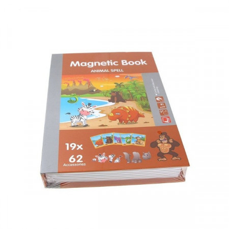 Joc educativ puzzle magnetic, Animale din Jungla.