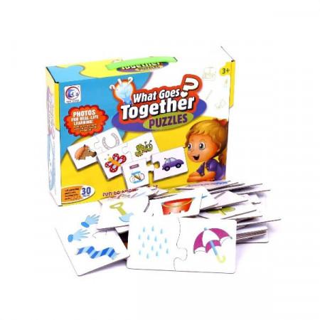 Puzzle bebe, Asocieri. Puzzle pentru copii cu 60 piese.