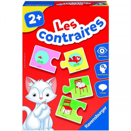 Puzzle bebe din 2 piese Contrariile, Ravensburger