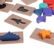 Puzzle tip Joc educativ din lemn Ghiceste a cui este umbra. Joc Montessori.incastru - Joc educativ din lemn Ghiceste a cui este umbra.