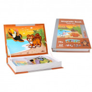 Joc educativ puzzle magnetic, Animale din Jungla., PlayBook.
