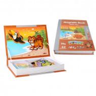 Joc educativ puzzle magnetic, Animale din Jungla, PlayBook.