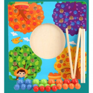 Joc indemanare si asociere, Copacul cu fructe. Joc educativ Montessori.