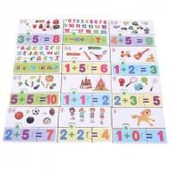 Joc Puzzle matematic. Jucarii si Jocuri Montessori din lemn.