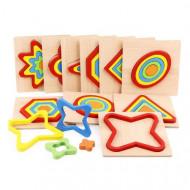 Puzzle incastru Montessori, Forme si Culori.