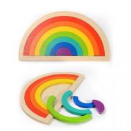 Set Creativ Curcubeu 7 piese, Rainbow SemiCircle Montessori