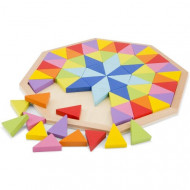 Set creativ Rainbow Octagon, 72 piese, Joc Montessori.