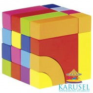 Set cuburi din lemn constructie GOKI