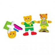 Set joaca Imbraca Ursuletii, Puzzle incastru din lemn.
