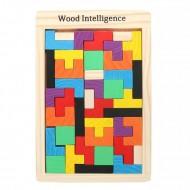 Tetris lemn, Joc constructii cu piese din lemn.