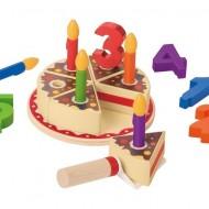 Joc de rol, Tort din lemn cu accesorii, Birthday cake