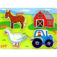 Joc de snuruit pentru copii, Jucarii si Jocuri Montessori din lemn.