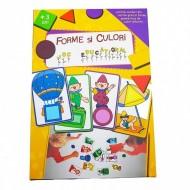Joc educativ pentru copii Forme si Culori. Jucarii si Jocuri Montessori din lemn