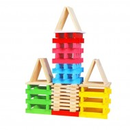 Joc lemn, Set constructii 150 piese din lemn.