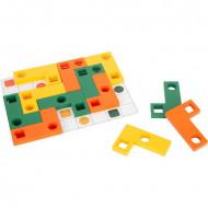 Joc logica IQ cu forme geometrice, Geometric Shapes Wooden Learning Puzzle, Small Foot.