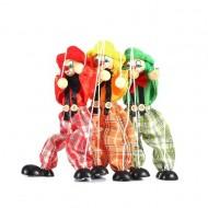 Jucarie Marioneta cu sfori, Papusar din lemn si textil cu sfori. Jucarii si Jocuri Montessori din lemn.