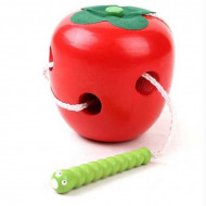 Jucarie Montessori Worm eat Fruit, Viermele mancacios, Jucarie indemanare.