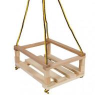 Leagan din lemn pentru copii. Leagan lemn exterior - interior.