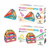 Pachet Magic Magnetic, 10+9 piese magnetice. Set joaca constructie magnetic.