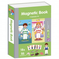 Carte magnetica Fashion Puzzle, Magnetic PlayBook 79 piese.
