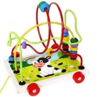 jucarie lemn de tras pentru bebe