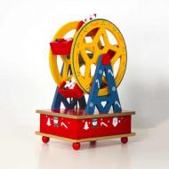 Jucarie Carusel muzical din lemn, Magic Wheel. Cadou Craciun.