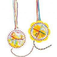 Jucarie creativa pentru copii, Rama pentru impletit bratari Goki Peggy Diggledey, Jucarii si Jocuri Montessori din lemn