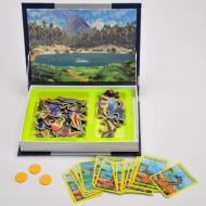 Carte magnetica, Lumea Dinozaurilor. Magnetic PlayBook.