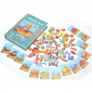 Puzzle magnetic PlayBook, Peisaje acvative, 75 piese.