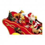Decoratiune muzicala Sania lui Mos Craciun, Musical box Christmas Carriage, Small Foot.
