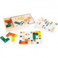 Joc logica IQ cu forme geometrice, Geometric Shapes Wooden Learning Puzzle, Small Foot.
