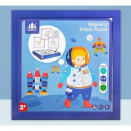 Joc magnetic Tangram Astronaut, Forme si culori. Joc educativ.