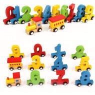 Jucarie din lemn Tren Invata cifrele. Jucarii si Jocuri Montessori din lemn